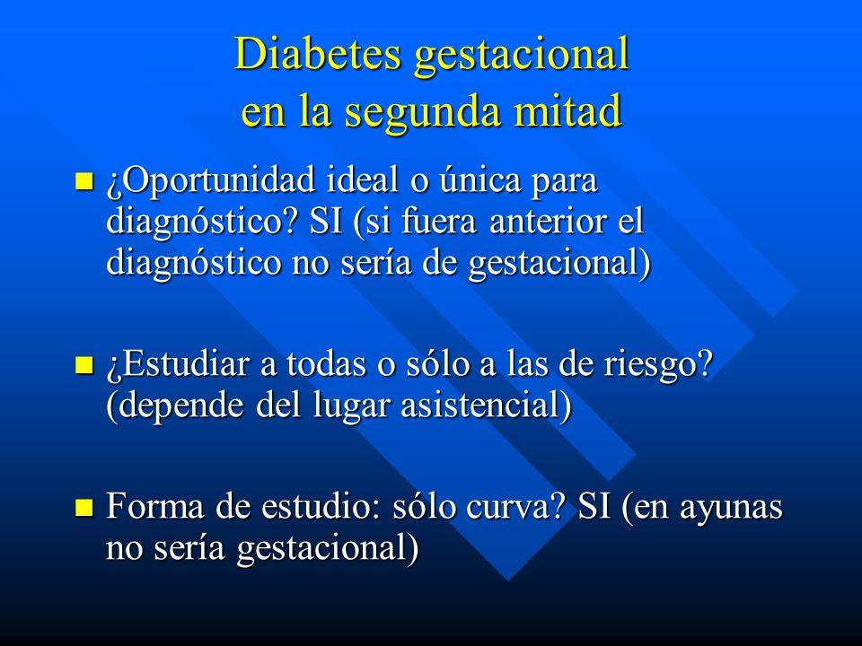 Diabetes gestacional en la segunda mitad