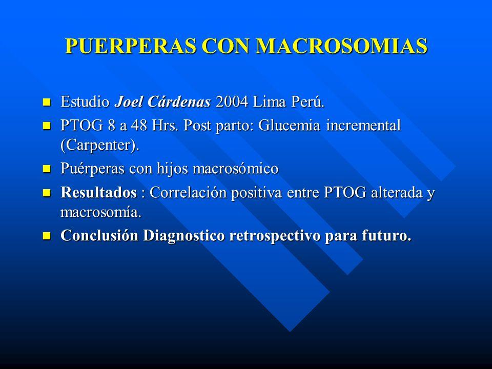 PUERPERAS CON MACROSOMIAS