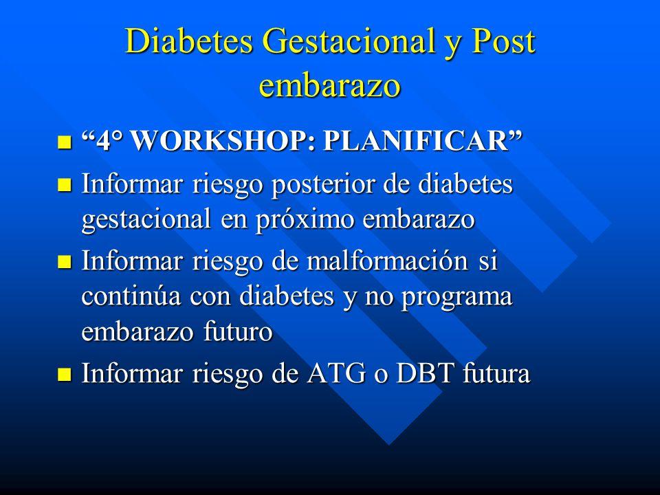 Diabetes Gestacional y Post embarazo