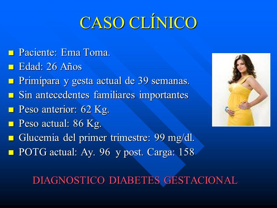 DIAGNOSTICO DIABETES GESTACIONAL