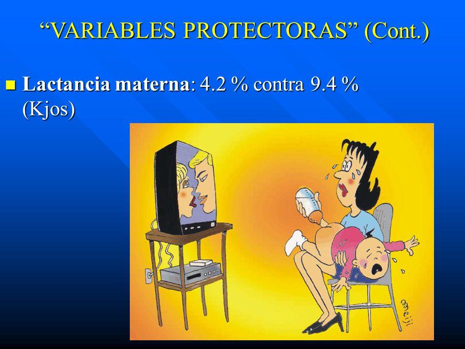 VARIABLES PROTECTORAS (Cont.)