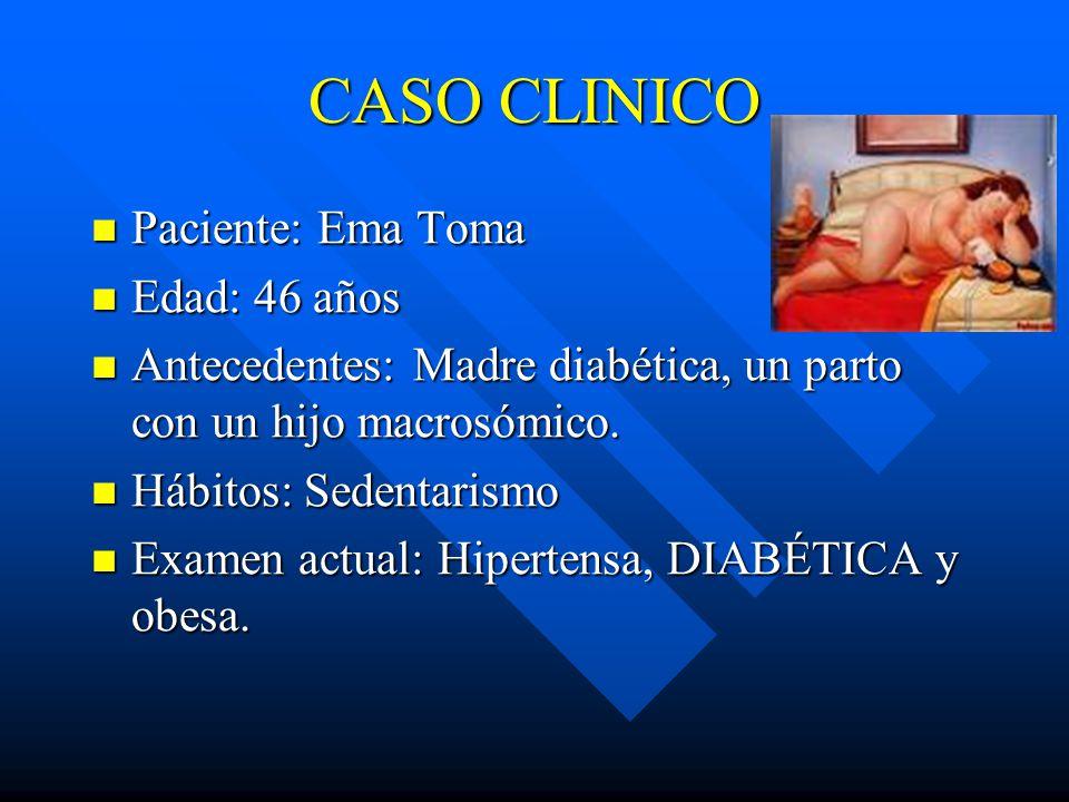 CASO CLINICO Paciente: Ema Toma Edad: 46 años