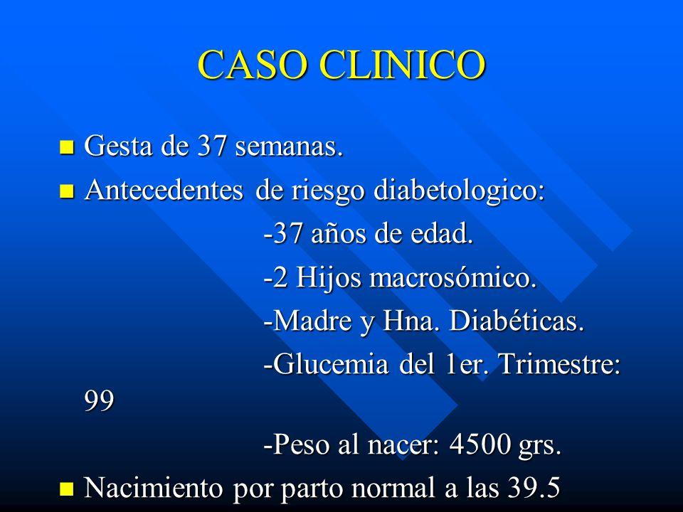 CASO CLINICO Gesta de 37 semanas.