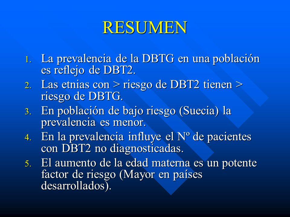RESUMEN La prevalencia de la DBTG en una población es reflejo de DBT2.