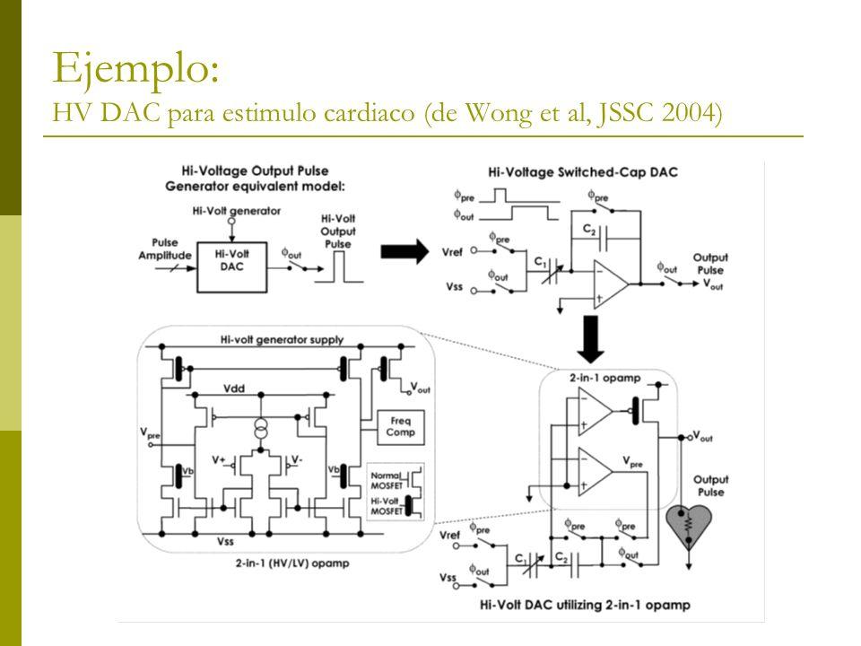 Ejemplo: HV DAC para estimulo cardiaco (de Wong et al, JSSC 2004)
