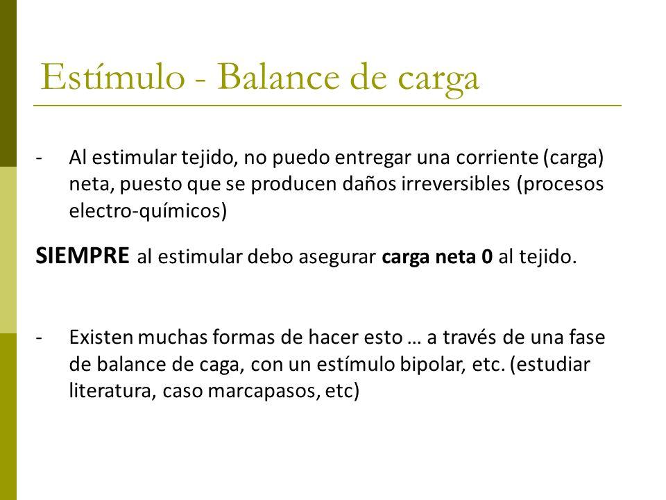 Estímulo - Balance de carga
