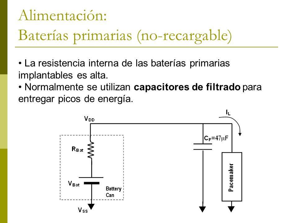 Alimentación: Baterías primarias (no-recargable)