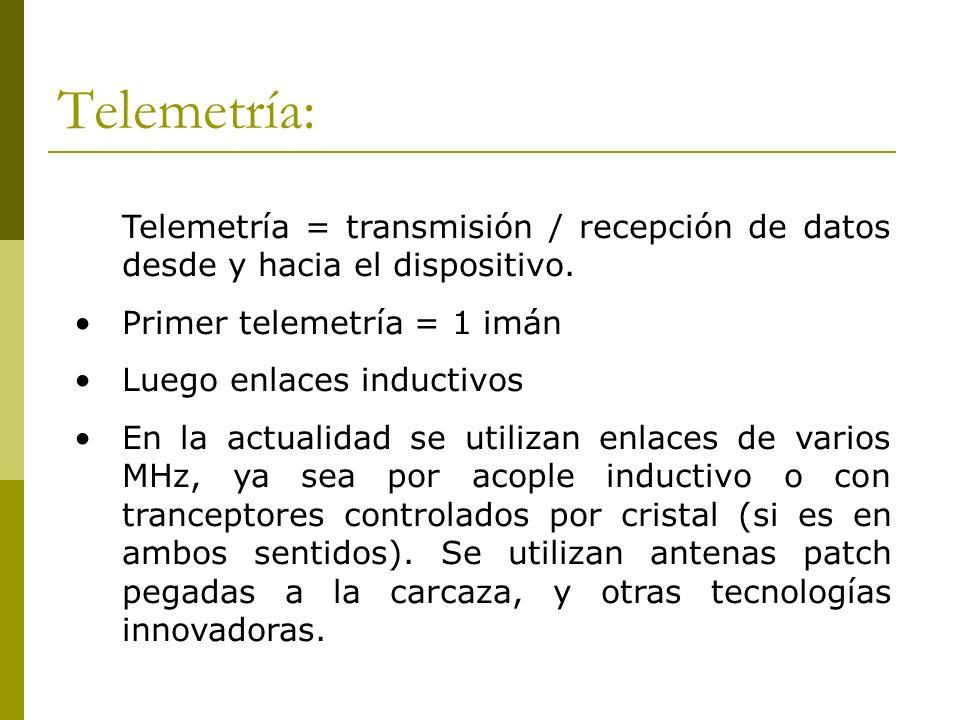Telemetría:Telemetría = transmisión / recepción de datos desde y hacia el dispositivo. Primer telemetría = 1 imán.