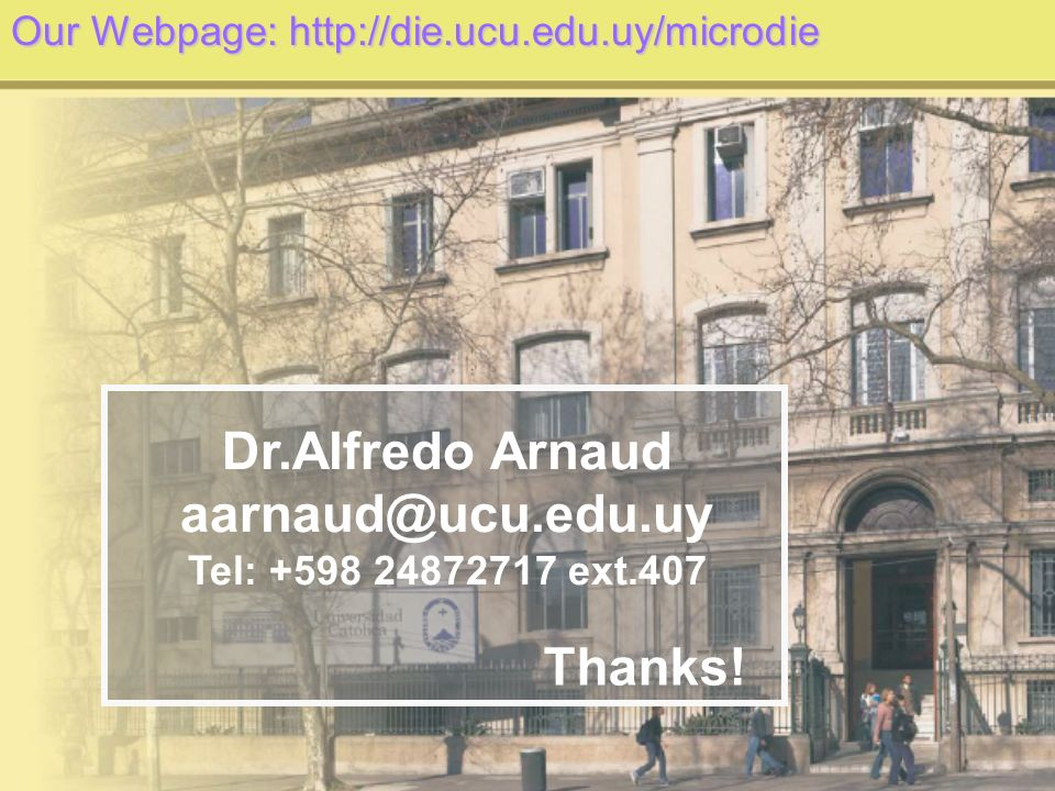 Dr.Alfredo Arnaud Thanks!