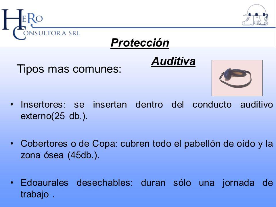 Protección Auditiva Tipos mas comunes: