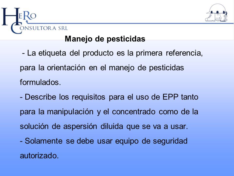 Manejo de pesticidas