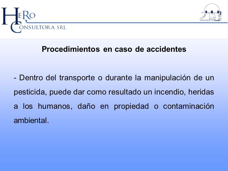 Procedimientos en caso de accidentes