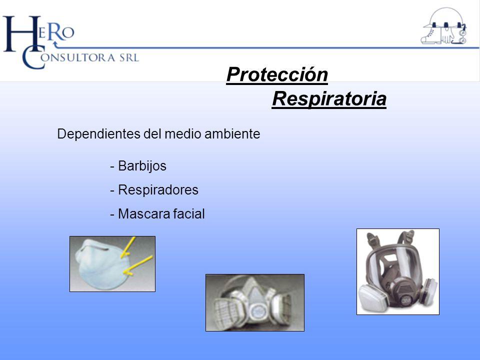 Protección Respiratoria Dependientes del medio ambiente - Barbijos