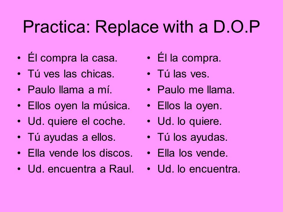 Practica: Replace with a D.O.P