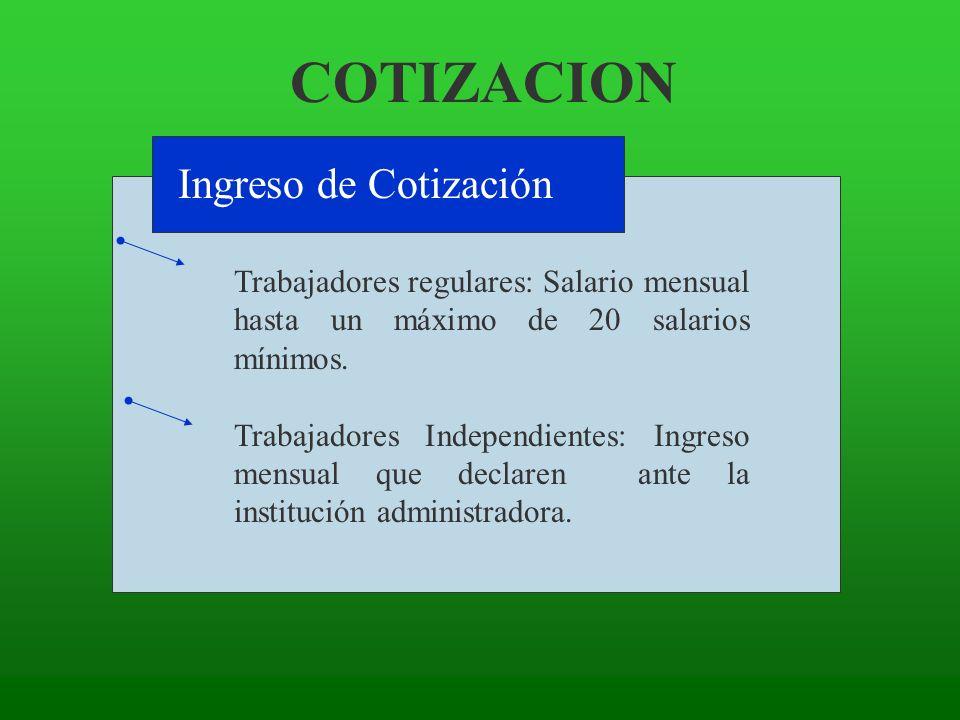 COTIZACION Ingreso de Cotización