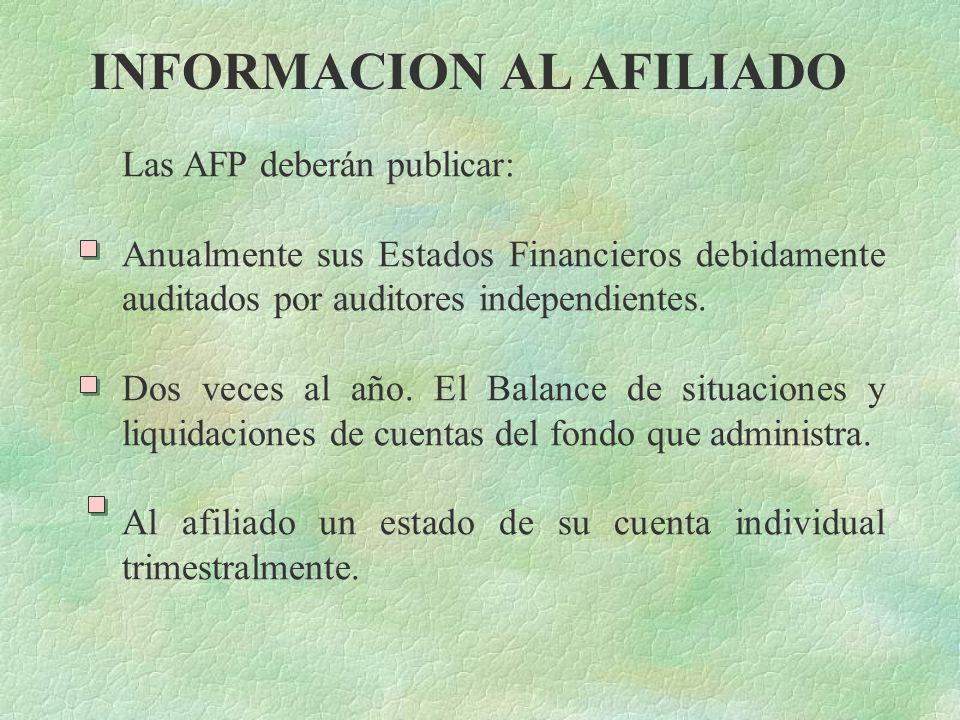 INFORMACION AL AFILIADO