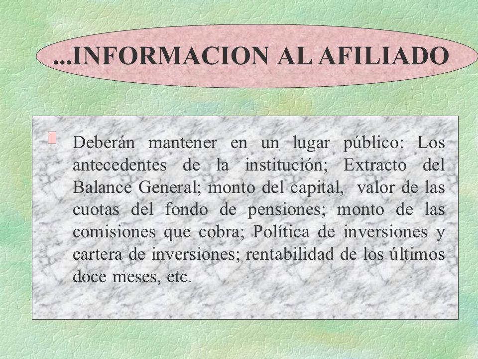 ...INFORMACION AL AFILIADO