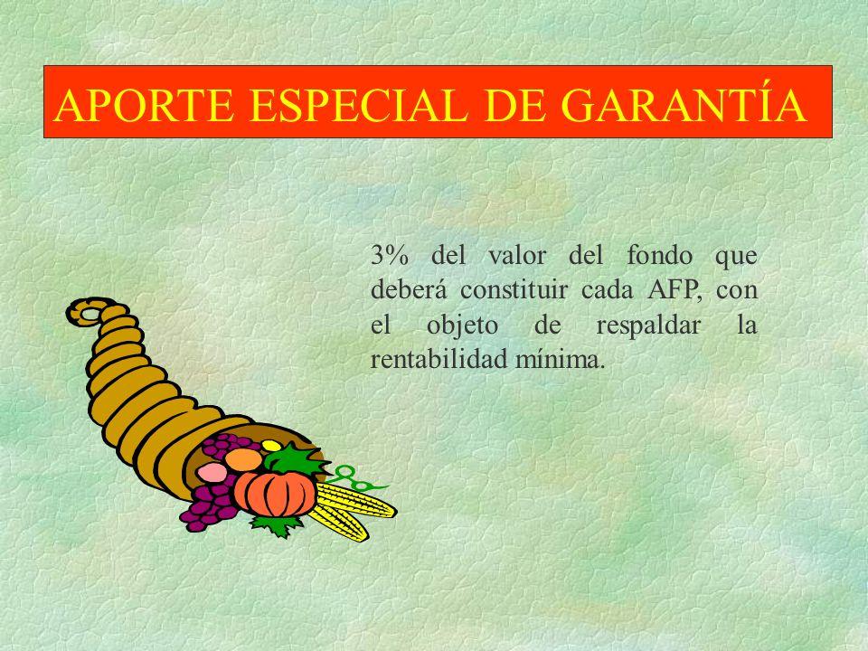 APORTE ESPECIAL DE GARANTÍA