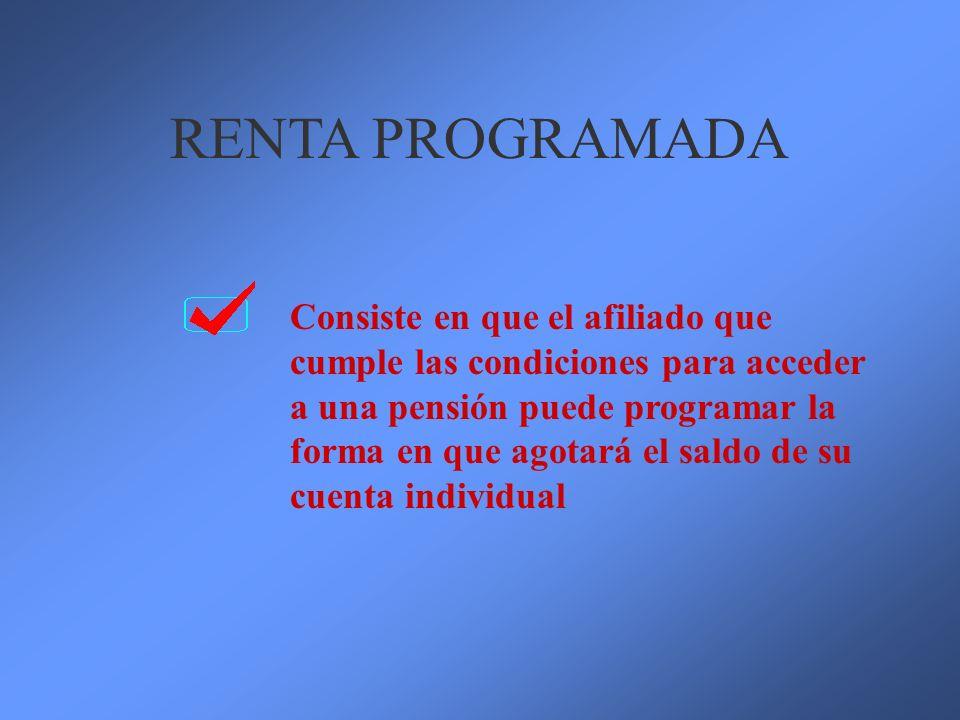 RENTA PROGRAMADA