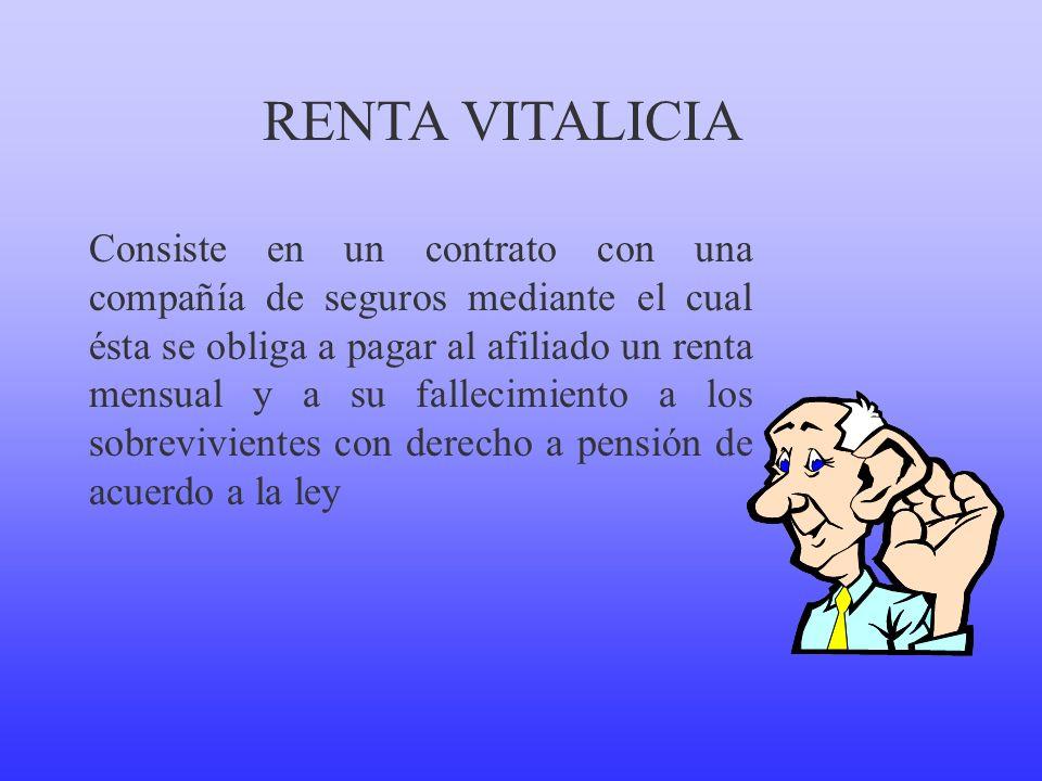 RENTA VITALICIA