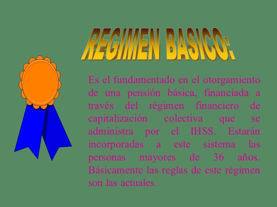 REGIMEN BASICO: