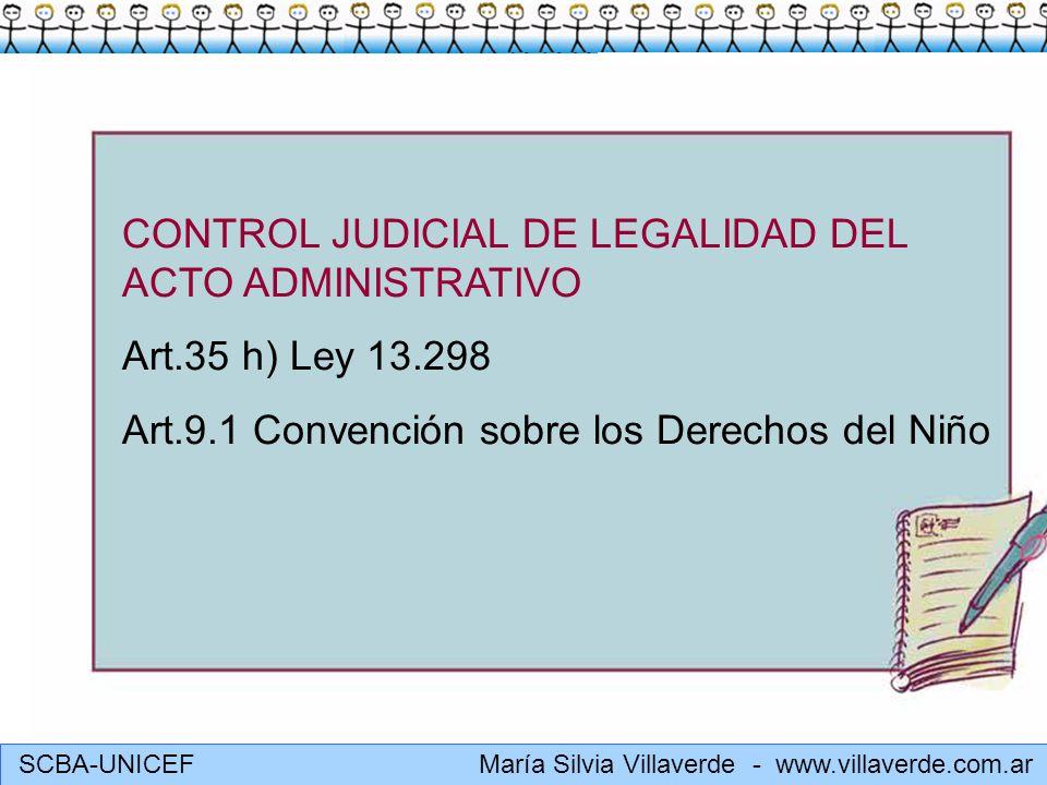 CONTROL JUDICIAL DE LEGALIDAD DEL ACTO ADMINISTRATIVO