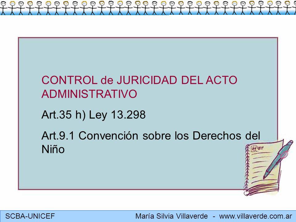 CONTROL de JURICIDAD DEL ACTO ADMINISTRATIVO