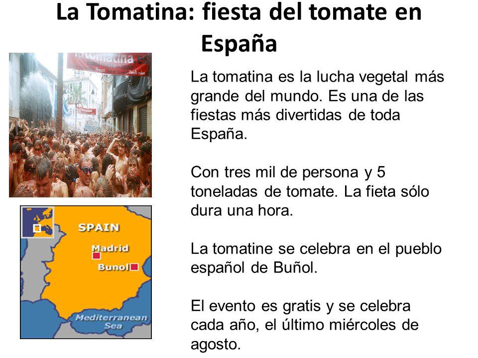 La Tomatina: fiesta del tomate en España