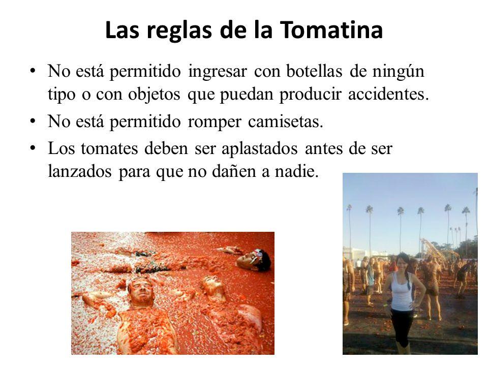 Las reglas de la Tomatina
