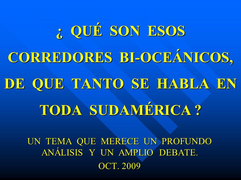 UN TEMA QUE MERECE UN PROFUNDO ANÁLISIS Y UN AMPLIO DEBATE. OCT. 2009