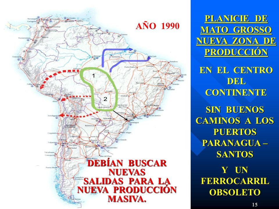NUEVA ZONA DE PRODUCCIÓN AÑO 1990