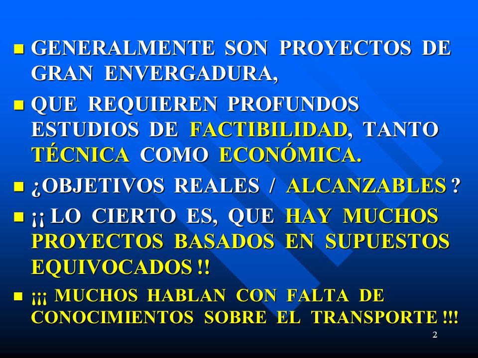 GENERALMENTE SON PROYECTOS DE GRAN ENVERGADURA,