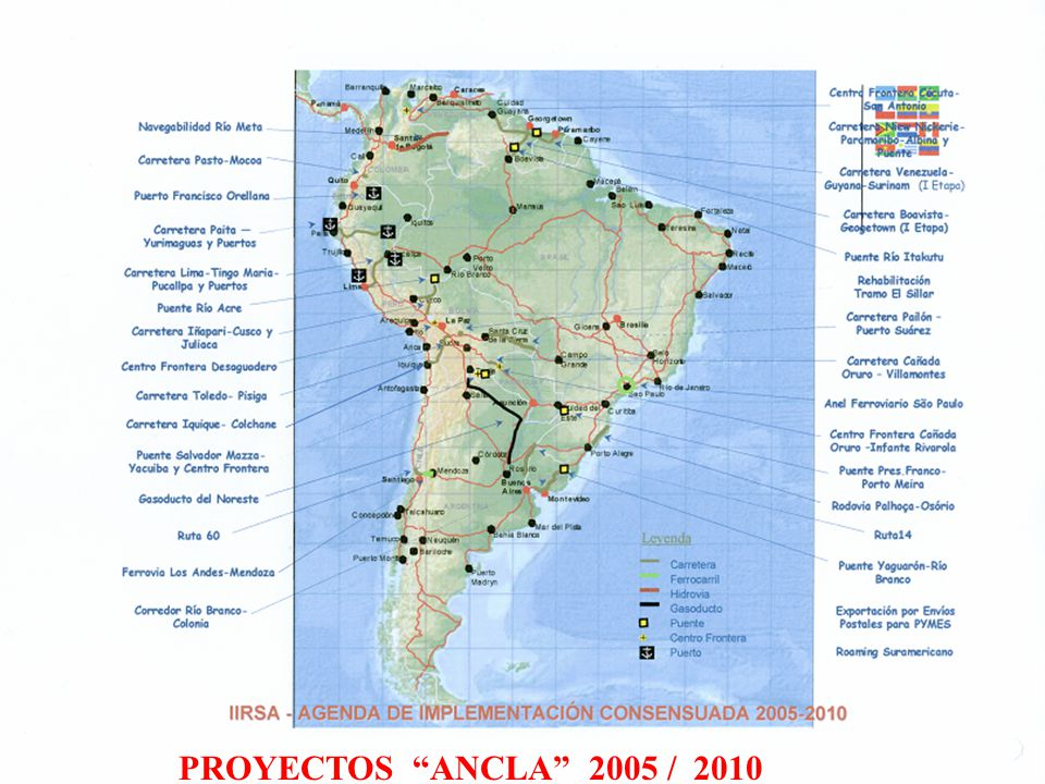 PROYECTOS ANCLA 2005 / 2010