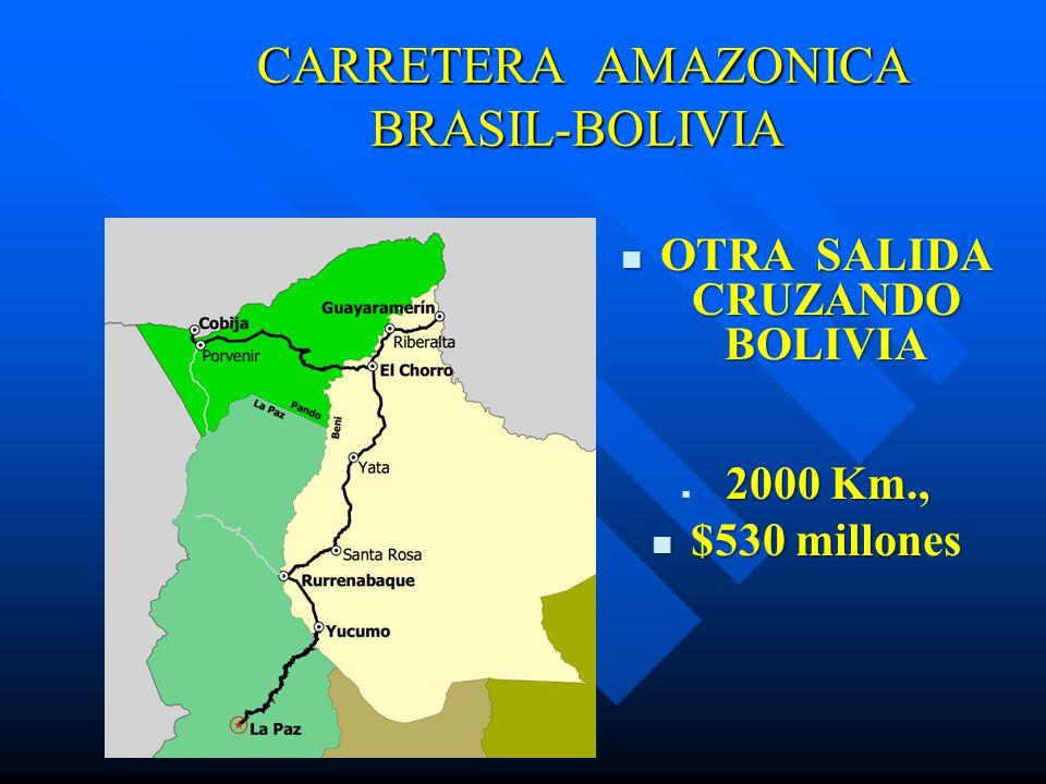 CARRETERA AMAZONICA BRASIL-BOLIVIA