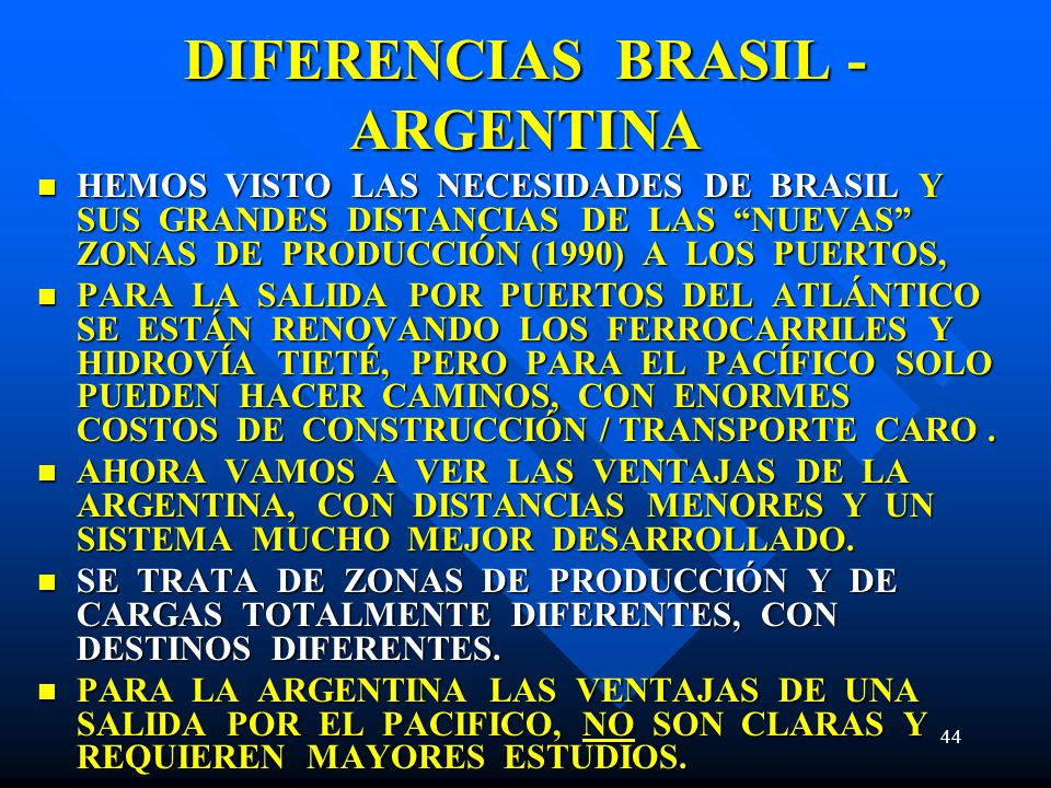 DIFERENCIAS BRASIL - ARGENTINA