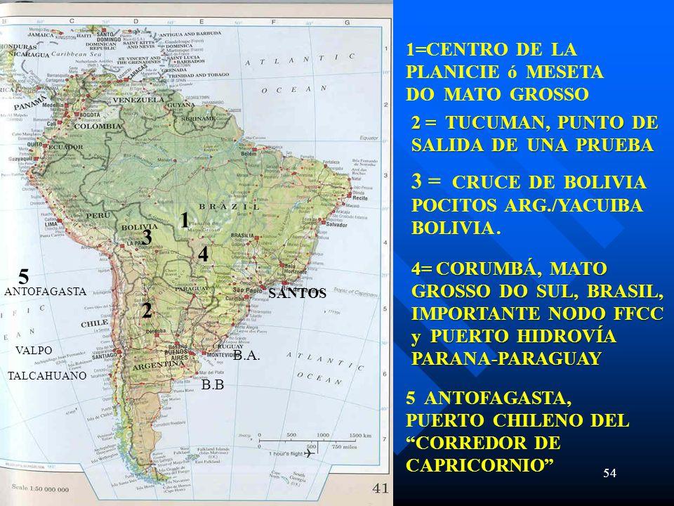 3 = CRUCE DE BOLIVIA POCITOS ARG./YACUIBA BOLIVIA .