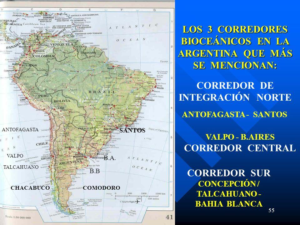 LOS 3 CORREDORES BIOCEÁNICOS EN LA ARGENTINA QUE MÁS SE MENCIONAN:
