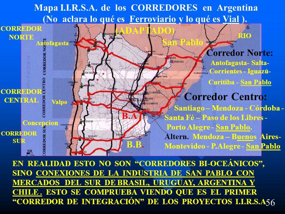 Corredores de Integración en la República Argentina