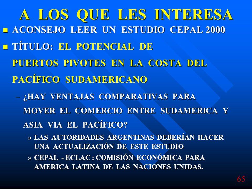 A LOS QUE LES INTERESA ACONSEJO LEER UN ESTUDIO CEPAL 2000
