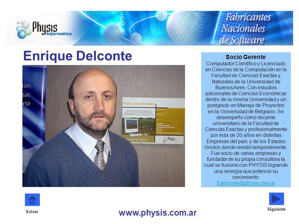 Enrique Delconte www.physis.com.ar Socio Gerente