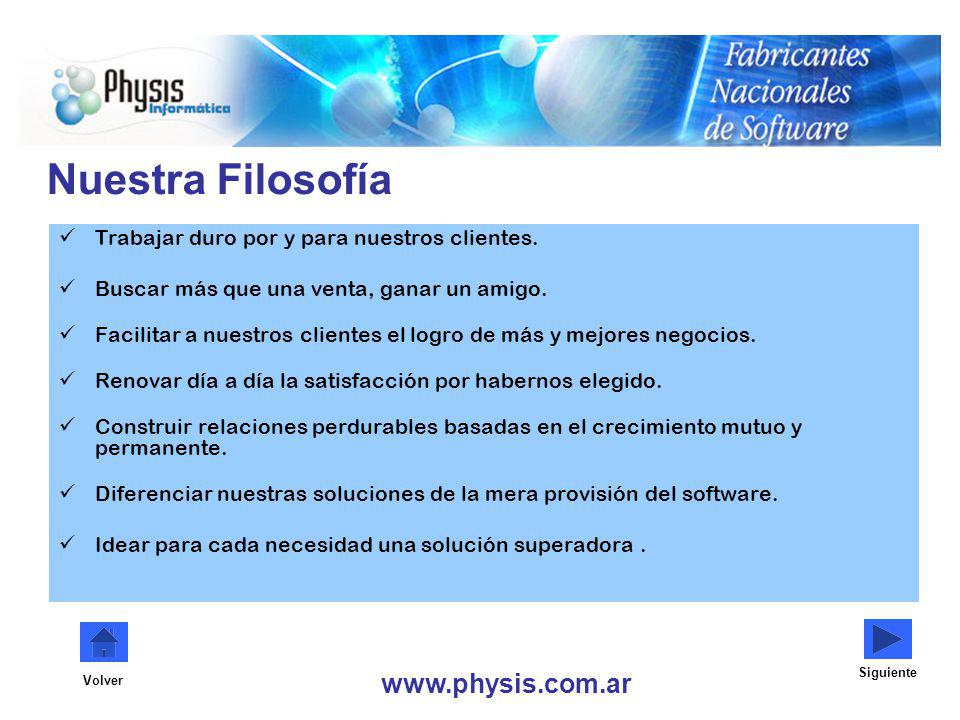 Nuestra Filosofía www.physis.com.ar