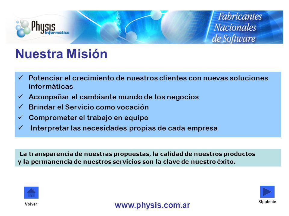 Nuestra Misión www.physis.com.ar