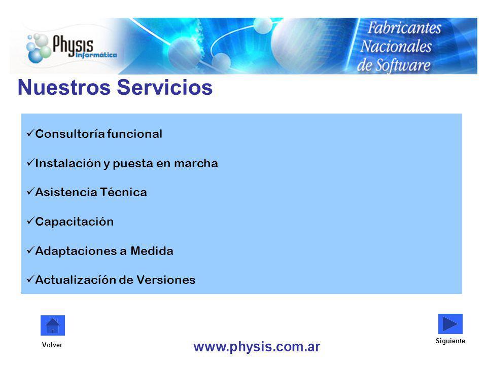 Nuestros Servicios www.physis.com.ar Consultoría funcional