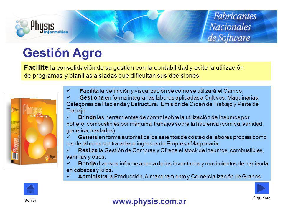 Gestión Agro www.physis.com.ar