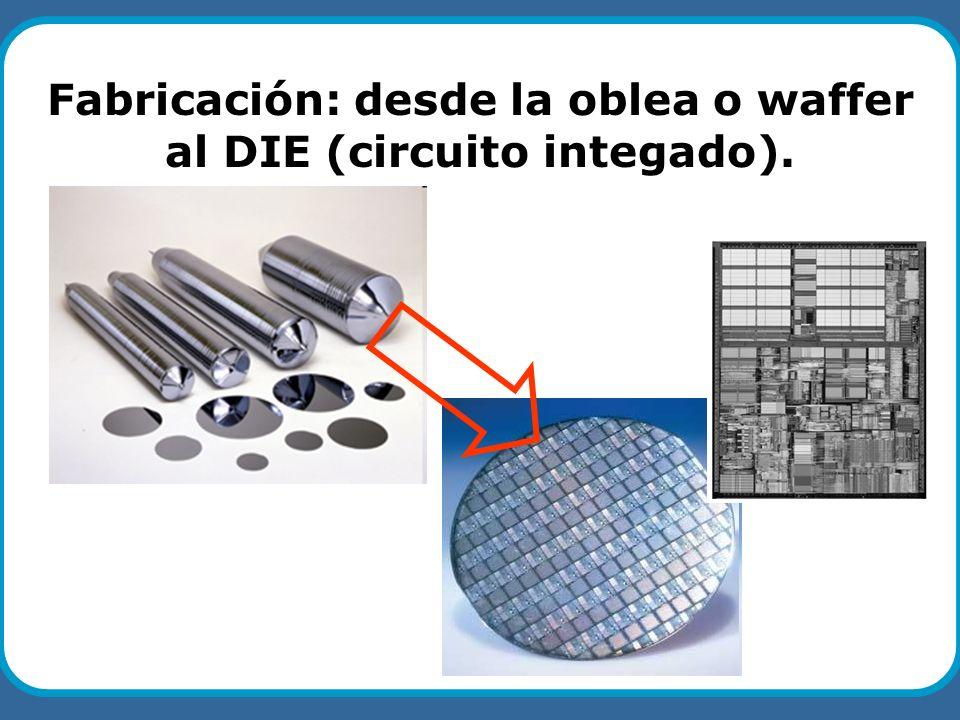Fabricación: desde la oblea o waffer al DIE (circuito integado).