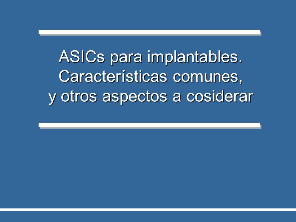 ASICs para implantables