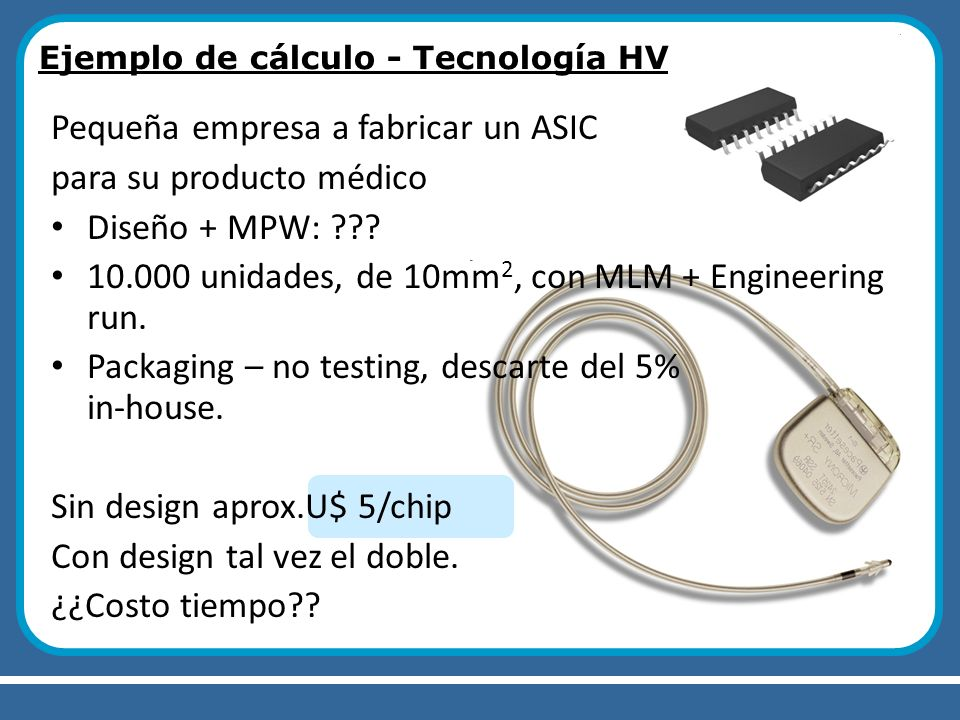 Pequeña empresa a fabricar un ASIC para su producto médico