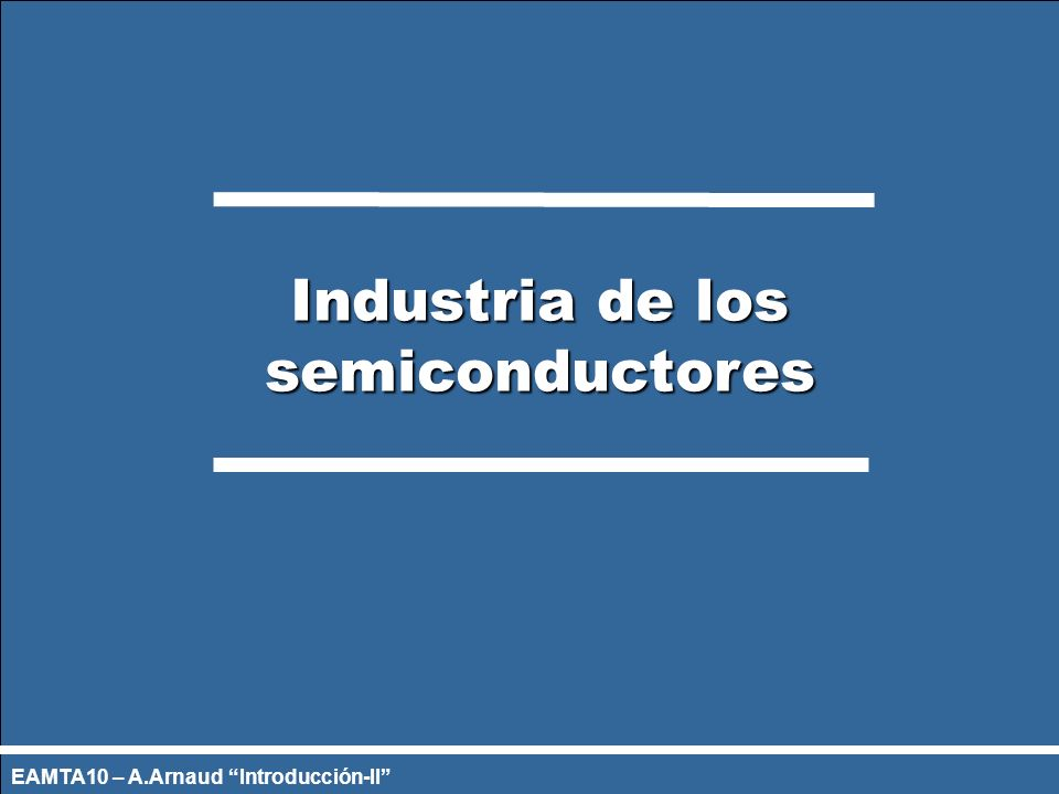 Industria de los semiconductores
