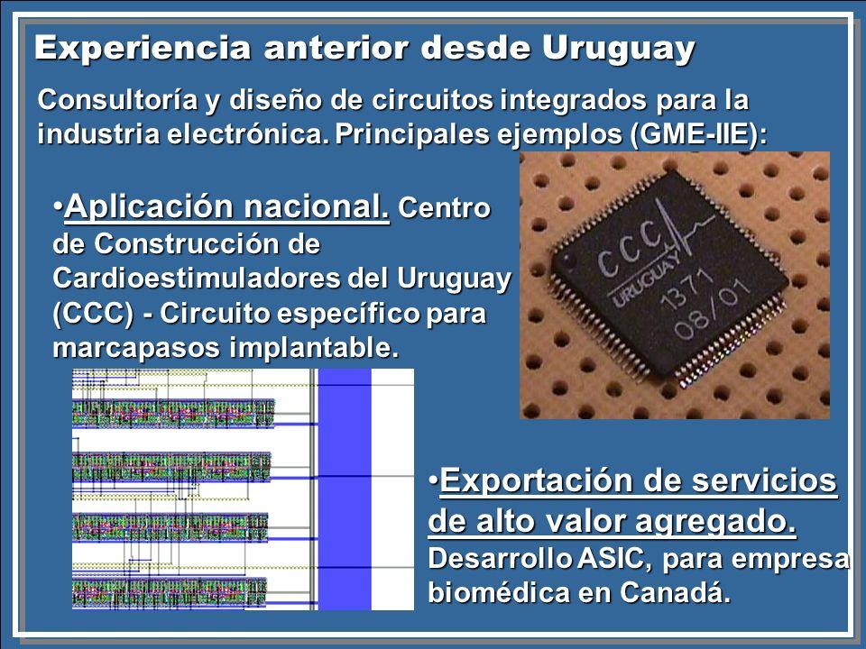 Experiencia anterior desde Uruguay