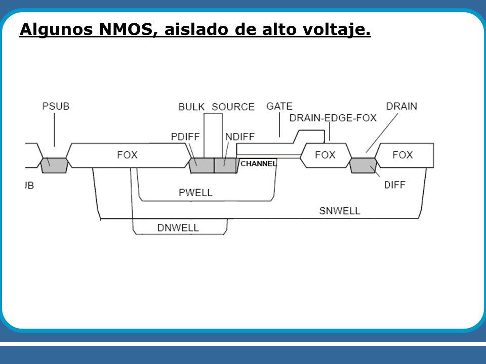 Algunos NMOS, aislado de alto voltaje.